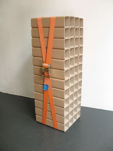 Strapped Cardboard Wine Rack