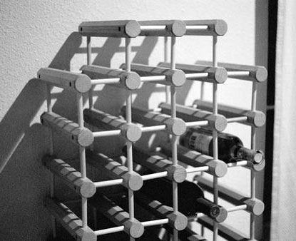 Wine Rack Made From Rods