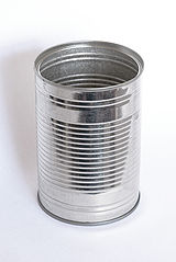 An empty tin can